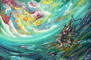 This Pirate Ship Navigates by One Star Only by PieterSneep
