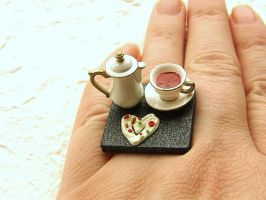 Tea And A Heart Shaped Cookie by souzoucreations