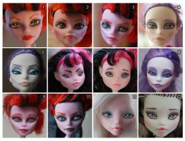Repaintings 2013 February - May by MySweetQueen-Dolls
