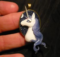 The Last Unicorn - handmade Pendant by Ganjamira
