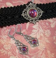 Dragonsbreath Choker Set by Gweyeni