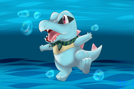 Totodile by StarlightEternal