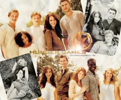 The hunger games lovely cast. by clockworkqueenn
