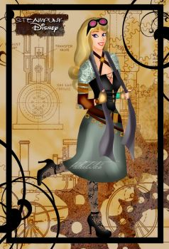 Steampunk Briar Rose by HelleeTitch