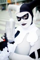 Black and White Harley Quinn 2 by Lady-Ha-ha