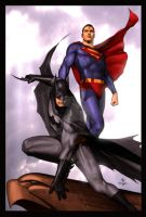 Superman Batman by Adi Granov by StephenSchaffer