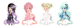 Dream Selfy Free Adoptions: Sylphs (Closed) by SeitoAnna