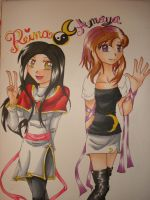 2005 OC -Reina and Amaya- by Aisuki-Chan