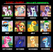 2012 Art summary by Toxic-Mario