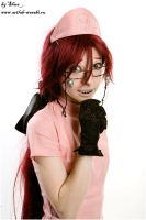 Grell Sutcliff is nursing you by shua-cosplay