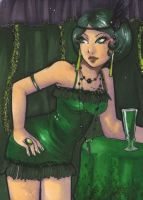 ACEO 76: 'DRINK ME'- ABSINTHE by Forunth