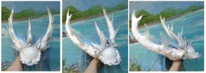 Ice Kirin Horns by LilleahWest
