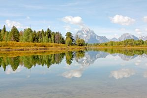 Oxbow Bend Teton Reflections by Kippenwolf