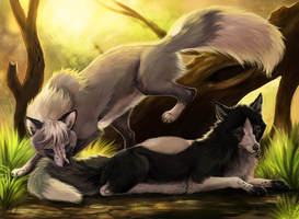 Kohana And Ezhno by animalartist16