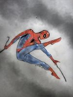 Spiderman swinging by nikoskap