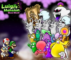 Luigi's Mansion Dark Moon Wallpaper by SuperLakitu