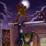 Friday Afternoon-Samus v. Link by napalmzonde