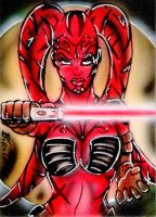 Darth Talon Sketch Card by BiancaThompson