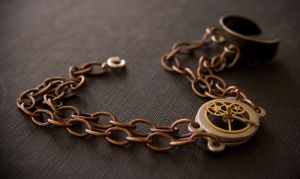 - Steampunk Bracelet - by IskaDesign