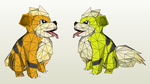 Papercraft - Growlithe by Jyxxie
