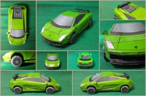 Lamborghini Gallardo Superleggera Papercraft by Mironius