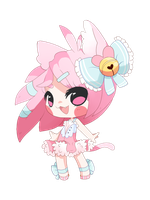 Pink Kitty By Octokay by mew-chii