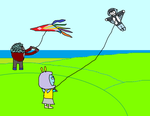 A nice windy day to fly a kite by GrayComputer