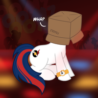 Boxhead The Disco Pony by BroccoliMeansFun