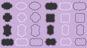 Digital frames borders pack by PicturesOfPelicans