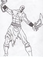 Kratos God of War by mantis484848