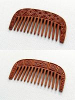 SMALL COMB with ABSTRACT ORNAMENTS by MassoGeppetto