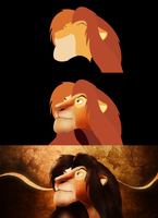Lion King with pen tool by VellGFX