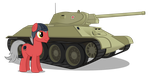 Starshy With His T-34 by MrLolcats17