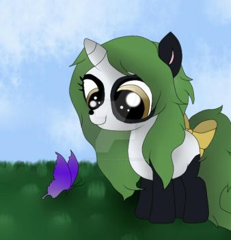 The Panda and the Butterfly by hopefaithxoxo