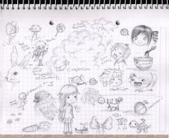 A Page of Doodles and Noodles by minipolkadots