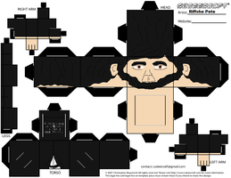 Abraham Lincoln Cubeecraft by RiffshePete