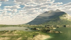 Vue Lakeside Mountain scene by DRSpaceman