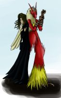 Me and Blaziken Colour by YaVaho155