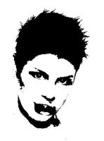 kittin with a tongue by paintisthenewdope
