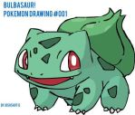 Pokemon Drawing #001: Bulbasaur! by JoshsArt13
