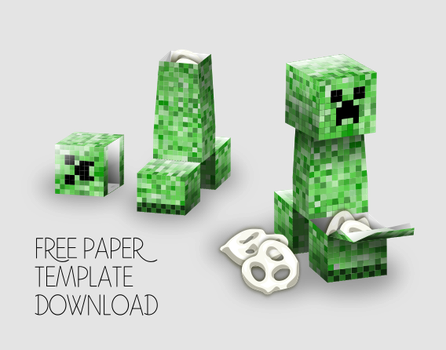 Minecraft Creeper Party Favor Box (Body) by Gaddia