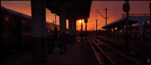 Morning at the train station by citrina
