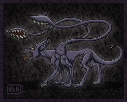 Displacer Beast - Coeurl by MiraKHall