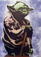 Yoda - Star Wars - Spray paint stencil art by TheStreetCanvas