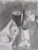 Charcoal Still Life by omegajjj