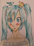 World is Mine- Miku Watercolor by taliatheotaku