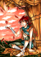 Red Leaves by MoMoRiddle