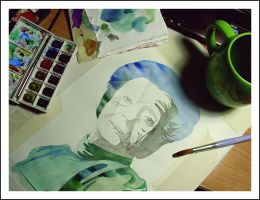 Rita Levi Montalcini's Tribute in Watercolor. by AirelavArt