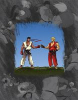 Street Fighter: Ryu / Ken Friendship and Rivalry by 1981kuro