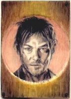 Norman Reedus balsa wood mini by whu-wei